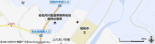 大分県佐伯市弥生大字上小倉1222周辺の地図
