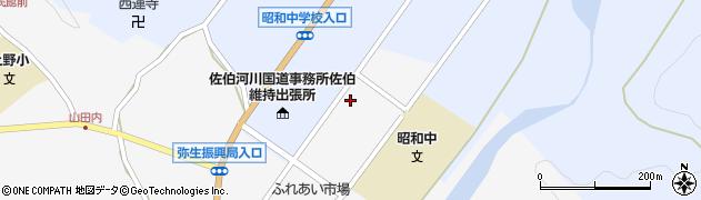 大分県佐伯市弥生大字上小倉1215周辺の地図