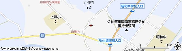 大分県佐伯市弥生大字上小倉612周辺の地図