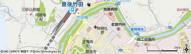大分県竹田市竹田町558周辺の地図