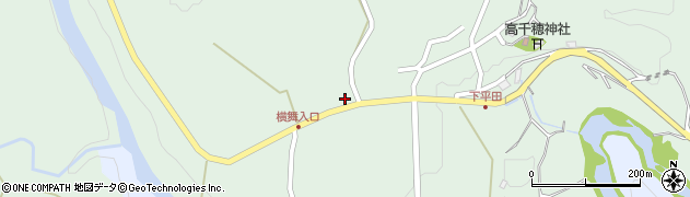 大分県竹田市平田1071周辺の地図