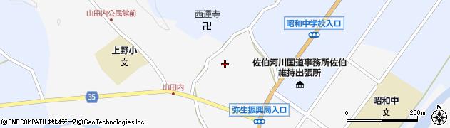 大分県佐伯市弥生大字上小倉603周辺の地図