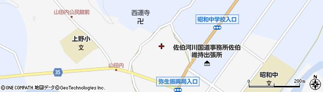 大分県佐伯市弥生大字上小倉604周辺の地図