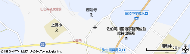 大分県佐伯市弥生大字上小倉601周辺の地図