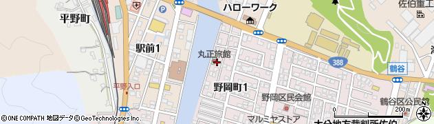 大分県佐伯市野岡町鶴谷区周辺の地図