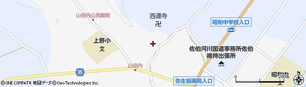大分県佐伯市弥生大字上小倉573周辺の地図