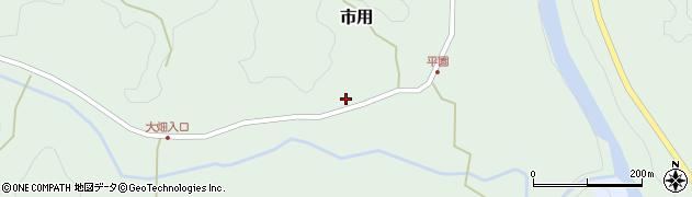 大分県竹田市市用415周辺の地図