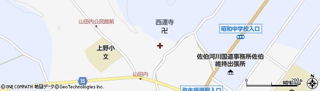 大分県佐伯市弥生大字上小倉574周辺の地図