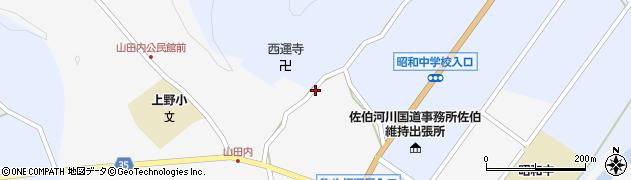 大分県佐伯市弥生大字上小倉585周辺の地図