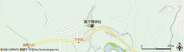 大分県竹田市平田周辺の地図