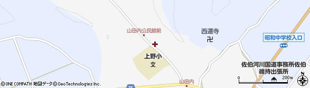 大分県佐伯市弥生大字上小倉384周辺の地図