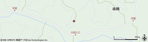 大分県竹田市市用348周辺の地図