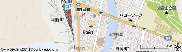 大分県佐伯市駅前1丁目周辺の地図