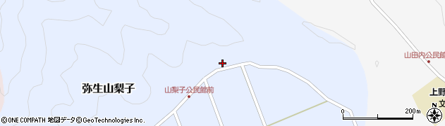 大分県佐伯市弥生大字山梨子1615周辺の地図