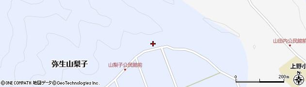 大分県佐伯市弥生大字山梨子1614周辺の地図