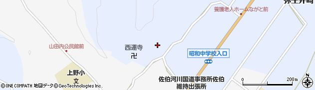 大分県佐伯市弥生大字井崎2491周辺の地図