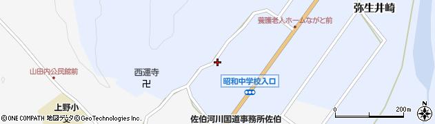 大分県佐伯市弥生大字井崎1346周辺の地図