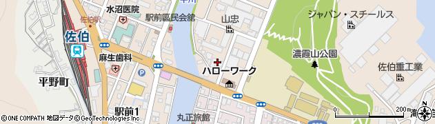 大分県佐伯市鶴谷町周辺の地図