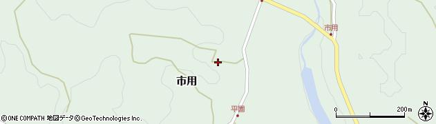 大分県竹田市市用平園周辺の地図