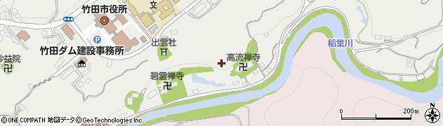 大分県竹田市会々城北町周辺の地図