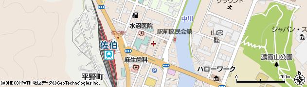 大分県佐伯市駅前2丁目周辺の地図