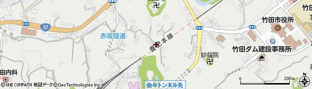 大分県竹田市会々1357周辺の地図