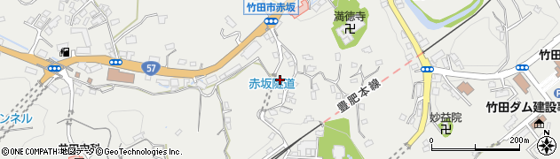 大分県竹田市会々1295周辺の地図