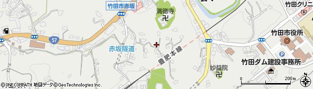 大分県竹田市会々1414周辺の地図