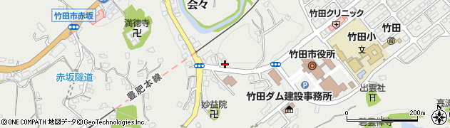 大分県竹田市会々1540周辺の地図