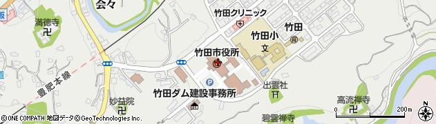 大分県竹田市周辺の地図