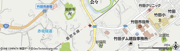 大分県竹田市会々1487周辺の地図