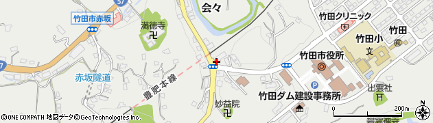 大分県竹田市会々1532周辺の地図