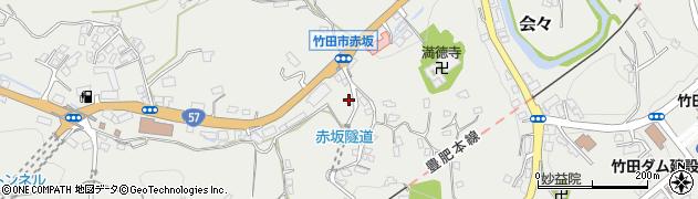 大分県竹田市会々1305周辺の地図