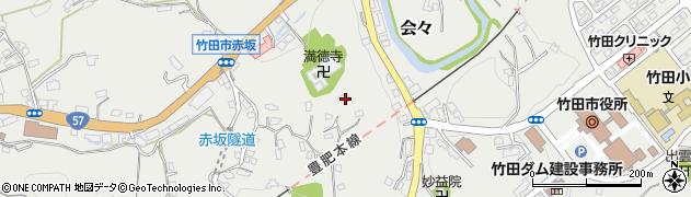 大分県竹田市会々1424周辺の地図