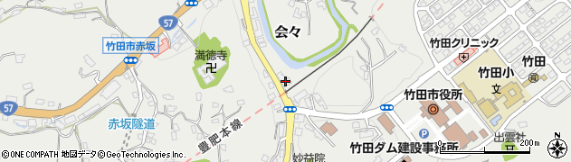 大分県竹田市会々1482周辺の地図