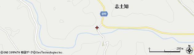 大分県竹田市志土知214周辺の地図