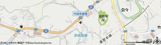 大分県竹田市会々1311周辺の地図