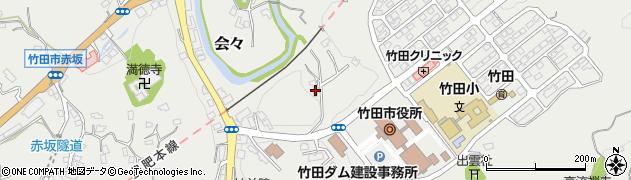 大分県竹田市会々1572周辺の地図