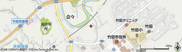 大分県竹田市会々1559周辺の地図