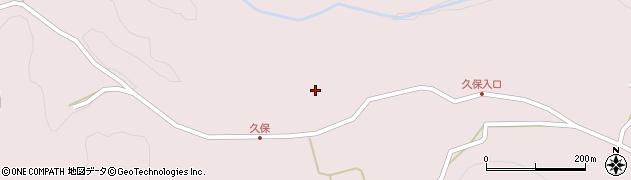 大分県竹田市久保久保周辺の地図