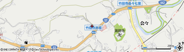 大分県竹田市会々1126周辺の地図
