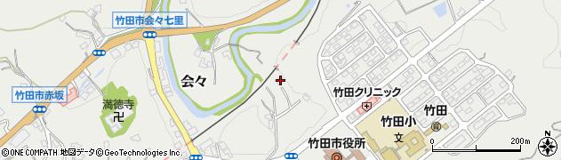 大分県竹田市会々1706周辺の地図