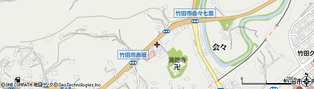 大分県竹田市会々1253周辺の地図