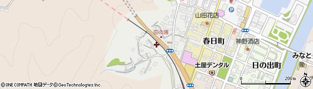 大分県佐伯市田の浦町周辺の地図