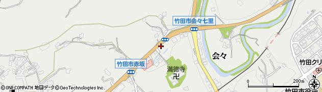 大分県竹田市会々1251周辺の地図