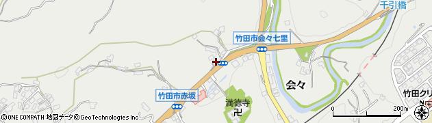 大分県竹田市会々1167周辺の地図