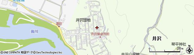 高知県四万十市井沢周辺の地図
