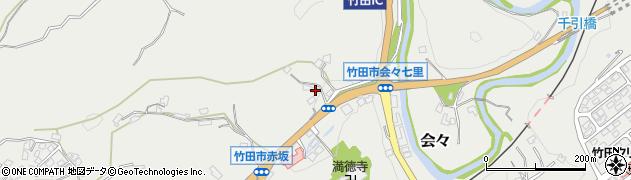 大分県竹田市会々1169周辺の地図