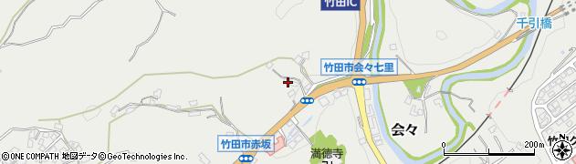 大分県竹田市会々1159周辺の地図