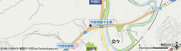 大分県竹田市会々1204周辺の地図